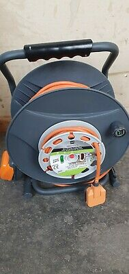 £39.99 • Buy 30m MASTERPLUG 1 SOCKET CABLE REEL COLLECT ONLY OVERLOAD PROTECTION WEATHERPROOF