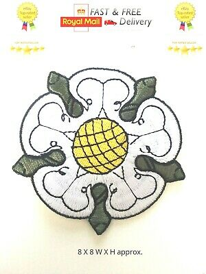£1.99 • Buy Yorkshire County White Rose Embroidered Sew/Iron On Patch Badge Shirt/JacketN-58