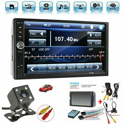 AU112.23 • Buy 7  Car Stereo Radio HD MP5 Player Touch Screen Bluetooth Radio 2 Din Rear Camera