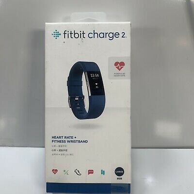 $ CDN121 • Buy Fitbit Charge 2 Wristband Activity Tracker HEART RATE+  Large Blue Band