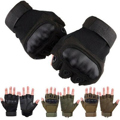 $10.99 • Buy Tactical Hard Knuckle Half Finger Gloves Army Military Men Airsoft Combat Police