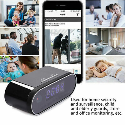 Spy Camera WiFi Hidden Wireless Night Vision Security Nanny Cam HD 1080P Alarm • 39.99£
