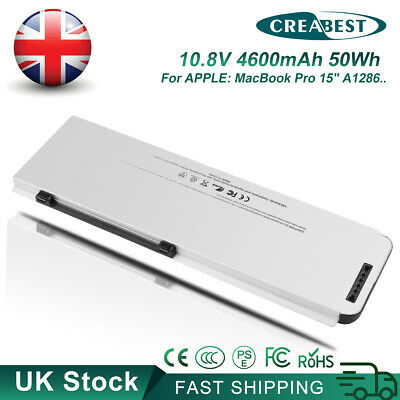 £32.89 • Buy 10.8V 4600mAh A1281 MB772 Battery For Apple MacBook Pro 15  A1286 2008 Version