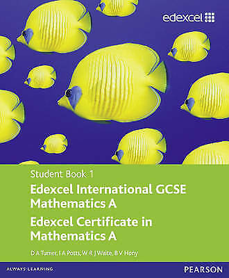 £6 • Buy Edexcel International GCSE Mathematics A Student Book 1 With ActiveBook CD By D