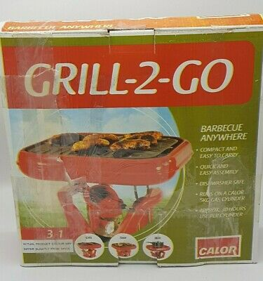 £50 • Buy CALOR Grill-2-Go Gas Camping  Portable BBQ, Red, New