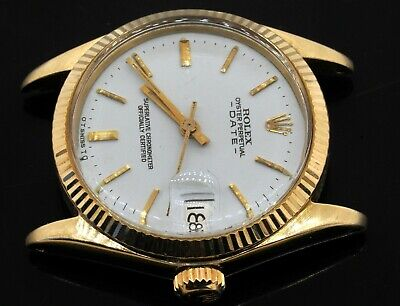 $ CDN4852.59 • Buy Rolex 6827 Vintage 14K Yellow Gold Midsize Date Automatic Watch