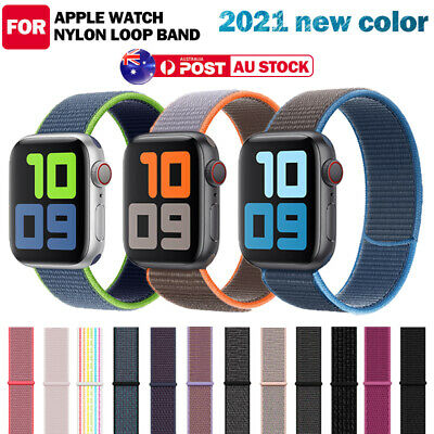 AU7.99 • Buy For Apple Watch Band Series 6/5/4/3 Nylon Loop Sport IWatch 38/42/40/44mm Strap