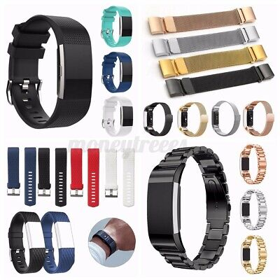 AU10.80 • Buy For Fitbit Charge 2 Bands Sport Replacement Silicone/Metal Wristband Watch
