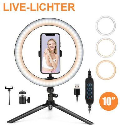 AU39.59 • Buy LED Ring Light With Tripod Stand Phone Holder Dimmable Studio Photo Makeup Lamp