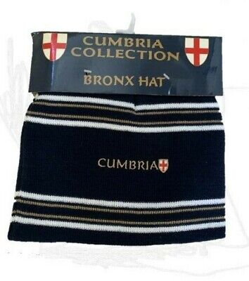 £5.99 • Buy Cumbria Collection Unisex England St George Flag Beanie Bronx Striped Hat Navy