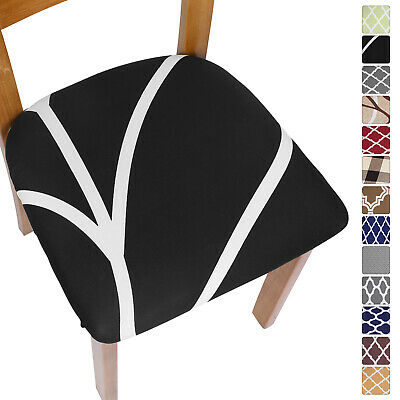 £3.59 • Buy Removable Stretch Chair Covers Elastic Dining Chair Seat Cushion Seat Slipcover