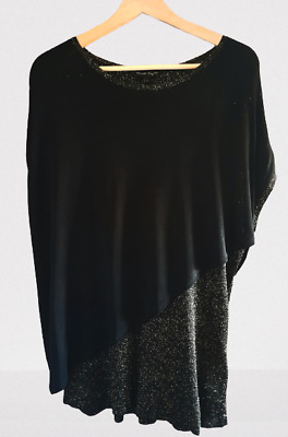 £15.99 • Buy Phase Eight Ladies Black Gold Top Size Large Sparkly Layered Sleeveless Party