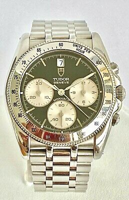 $ CDN2427.85 • Buy Tudor Vintage Monarch Chronograph Watch Stainless Steel With Date