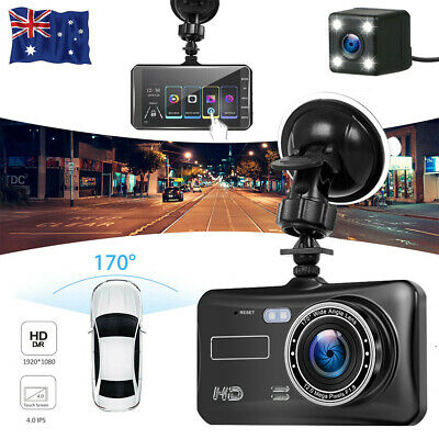 AU52.99 • Buy Touch Car Dash Camera Video DVR Recorder Front And Rear Dual Cam Night Vision
