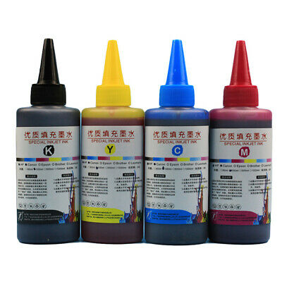 AU19.95 • Buy 4PCS 100ml Universal Color Ink Refill Kit For Canon Brother Printer For HP Print