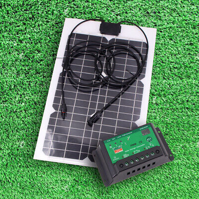 £13.99 • Buy 20W Flexible Sunpower Solar Panel Kit 10A Solar Charge Controller Hiking Camping