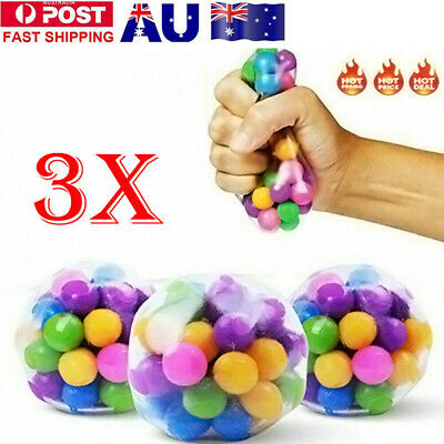 AU8.88 • Buy Squishy Sensory Stress Reliever Ball Toy Autism Squeeze Anxiety Fidget Relief AU