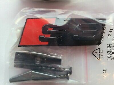 £24.99 • Buy Audi Honeycomb Grille Badge S3 Gloss Black Grille OEM Style Emblem NEW Grill