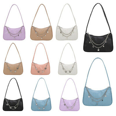 £6.79 • Buy New Fashion Women PU Leather Underarm Bag Butterfly Chain Pure Color Mini Purse