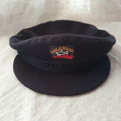 Paul Shark Yachting Wool Cap/Hat Unisex Dark Blue Size M Made In Italy  • 53.02£