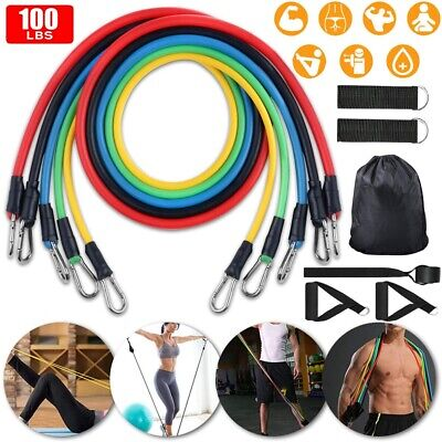 AU8.99 • Buy 11x Resistance Bands Power Heavy Strength Exercise Fitness Gym Crossfit Yoga AU