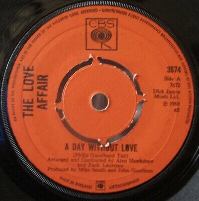 £4.49 • Buy LOVE AFFAIR - A Day Without Love - 7  Single