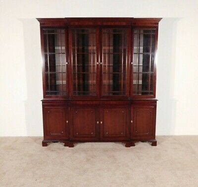 $2695 • Buy KINDEL 18th C Collection Oxford Chippendale Mahogany Breakfront China Cabinet