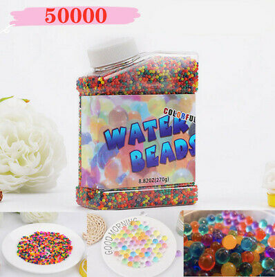 AU17.69 • Buy 50000 Orbeez Water Aqua Soil Crystal Bio Gel Balls Beads Decoration Vase Filler