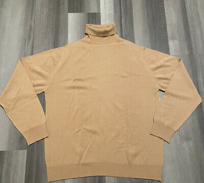 $100 • Buy Burberry 100% Wool Turtle Neck Sweater Mens XL Vintage Looks Brand New.