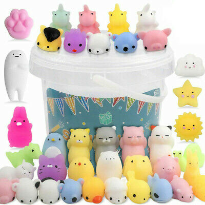 AU11.99 • Buy 20PCS Cute Animal Squishies Kawaii Mochi Squeeze Toys Stretch Stress Squishy NG