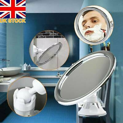 £12.12 • Buy 360 Adjustable Fogless Suction Cup Mirror Shower Shave Make Up Fog Free Mirror