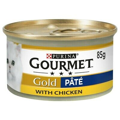 £10.79 • Buy Purina Gourmet Gold Pate Wet Cat Food Tins (Chicken) 12x85G