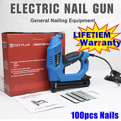 £31.50 • Buy Electric Staple Gun Framing Straight Nail 2 IN 1 Stapler Woodworking #GreatPrice