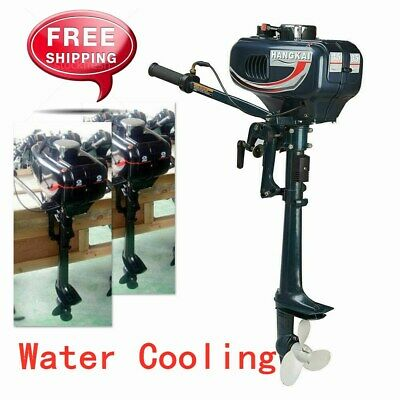AU307.01 • Buy Hangkai 2Stroke 3.5HP Boat Water Cooling Engine Outboard Motor + CDI System