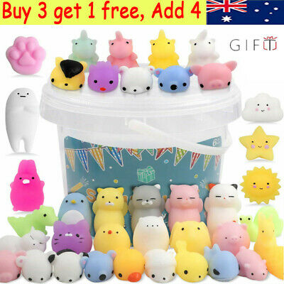 AU18.99 • Buy 20Pcs Cute Animal Squishies Kawaii Mochi Squeeze Toys Stretch Stress Squishy AU