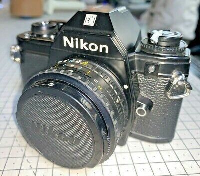 £99 • Buy Nikon EM With 50mm F1.8 Series E - Late, Silver-button Model With Manuals, 1980s