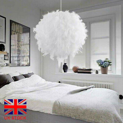 £17.99 • Buy Modern White Feather Ceiling Light Pendant Shade Bedroom Nordic Style Lampshade