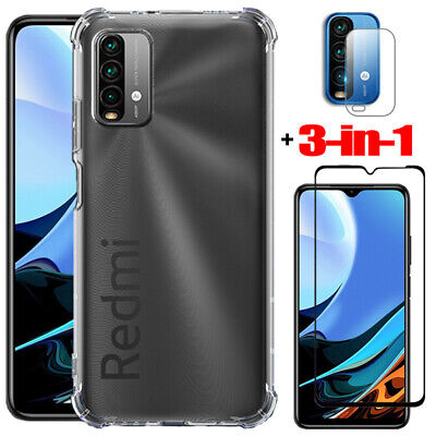 AU4.83 • Buy For Xiaomi Redmi 9T Shockproof Case Cover + Lens Film + Glass Screen Protector