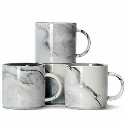 £30.99 • Buy Stackable Coffee Mugs Set Of 4 - Marble Ceramic Cup 320ml