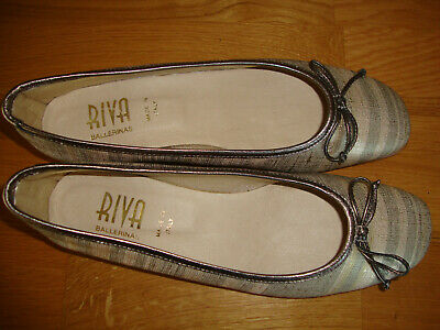 £15 • Buy Riva Beige Stripe Multi Shoes Size 6.5 Eu 40 New Without Box