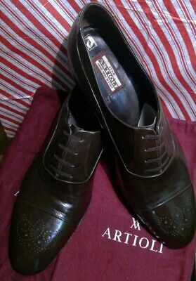 $ CDN374.68 • Buy Star artioli Lavorazion Brown Leather Hand Made Mens Shoes Size 13 D