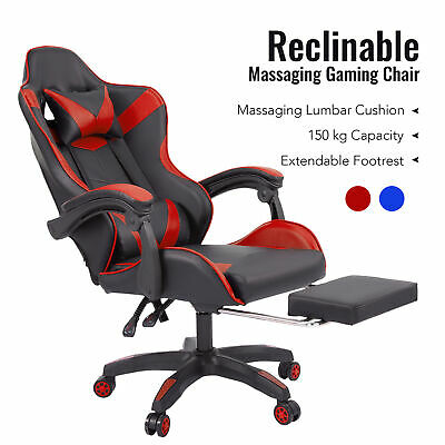 £80.99 • Buy Reclining Office Computer Gaming Racing Desk Chair W/ Massage&Ergonomic Support