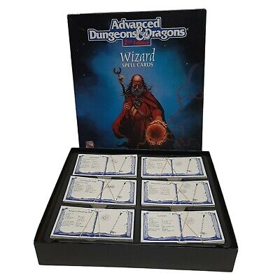 AU63.74 • Buy Advanced Dungeons & Dragons Wizard Spell Cards AD&D Box Set 2nd Edition