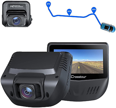 AU173.10 • Buy Dash Cam, Front And Rear 1080P Dash Camera For Cars, Optional GPS, 170° Wide An