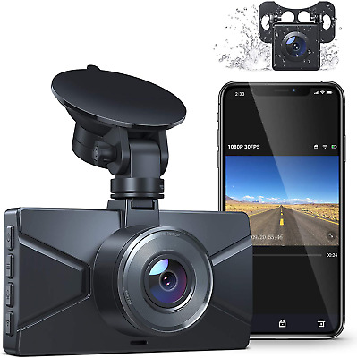 AU114.43 • Buy Dash Cam Front And Rear, WiFi Dash Cam For Cars Crosstour 1080P Car Camera With
