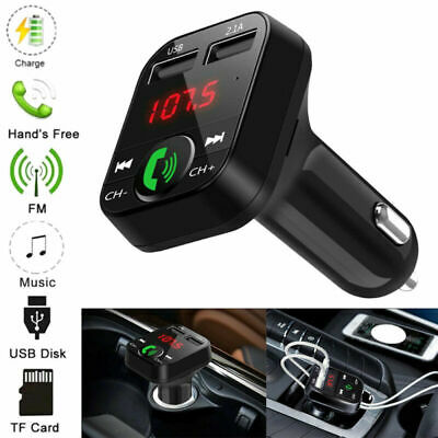 £4.99 • Buy Wireless Bluetooth Car FM Transmitter MP3 Player 2 USB Charger Handsfree Kit