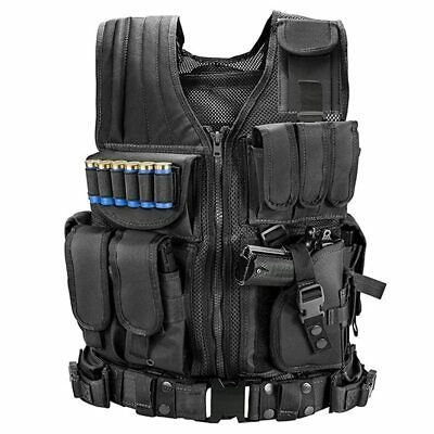 $37.99 • Buy Military Army Tactical Vest Gun Holder Police Molle Combat Assault Hunting Gear