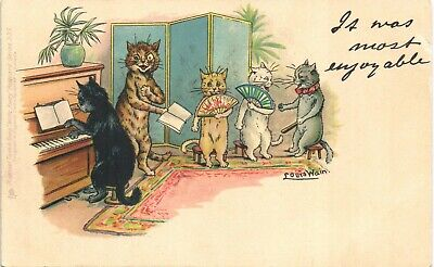 £32 • Buy Louis Wain Cats. It Was Most Enjoyable In Series 539 By Tuck. Piano.