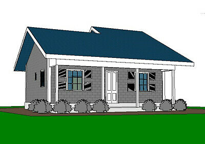 Custom Granny's Tiny House Home Building Plans 2 Bed & 1 Bath Room With CAD File • 7.86£