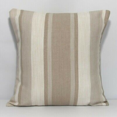 £8.99 • Buy Handmade Cushion Cover In Laura Ashley Awning Stripe Beige - Both Sides
